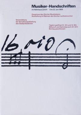 Musiker-Handschriften im Helmhaus Zürich