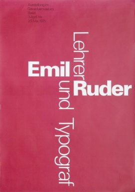 Emil Ruder, Lehrer + Typograf