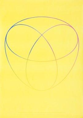 Kontinuierlicher Farbverlauf in einem System von drei Eliipsen