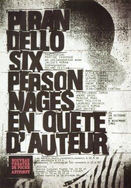 Pirandello Six Personages en Quete D'Auteur