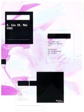 Die schönsten Schweizer Bücher 2001