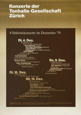 4 Sinfoniekonzerte im Dezember '79