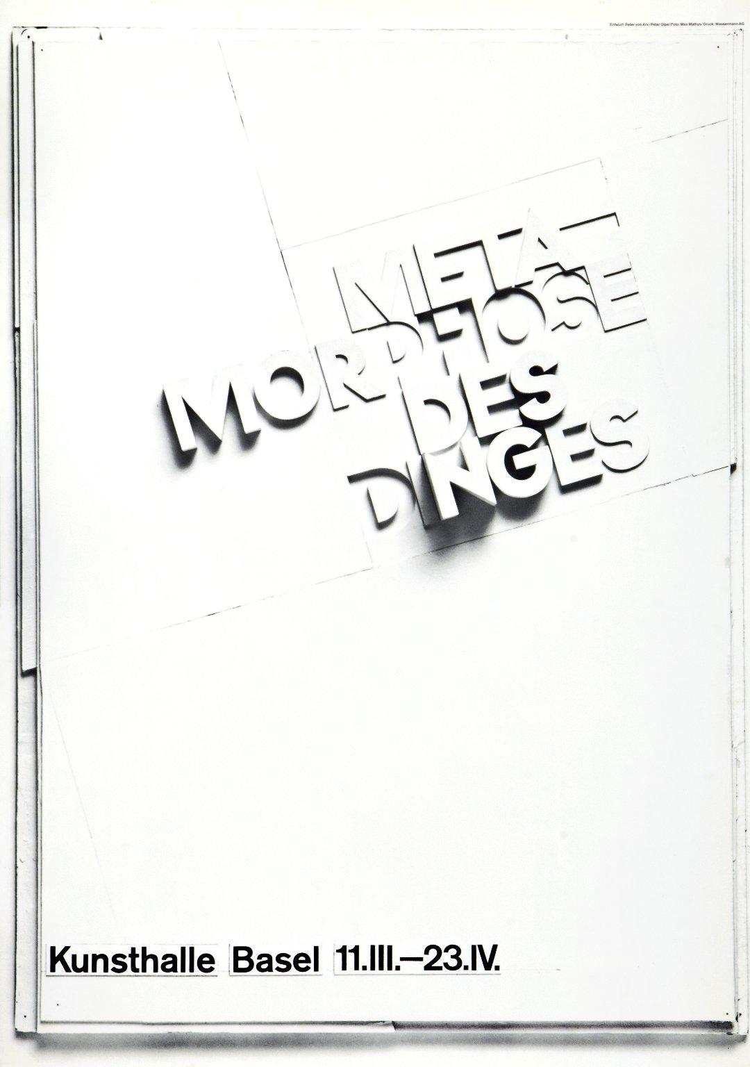 Ausstellung: Metamorphose des Dinges
