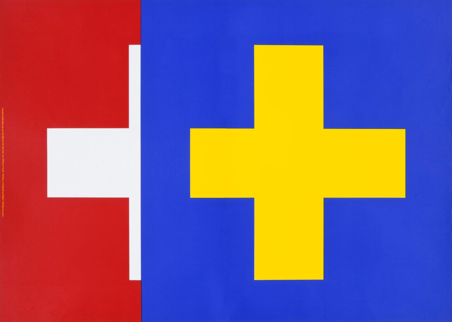 Visuelle Aufforderung zum EU-Beitritt der Schweiz