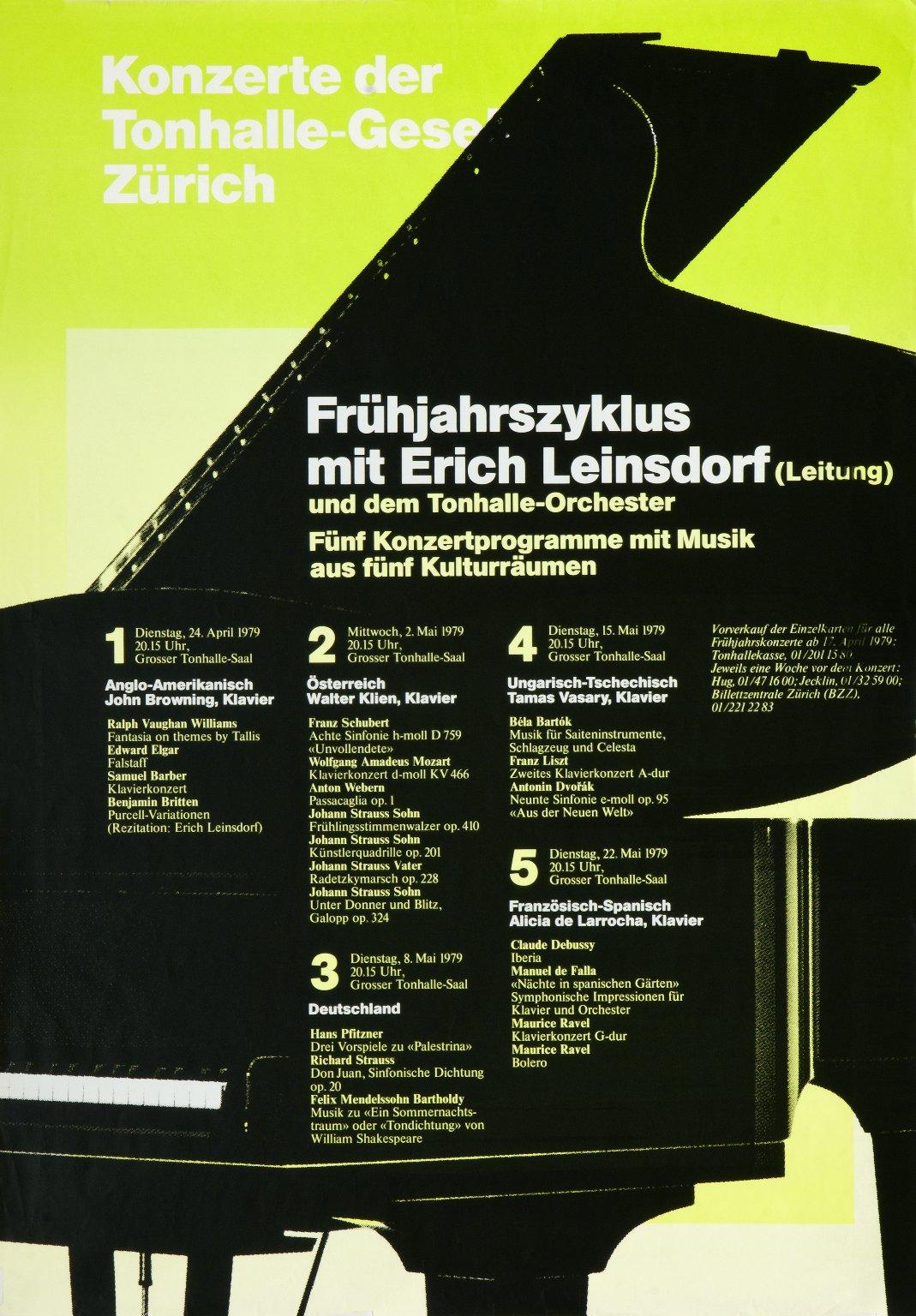 Frühjahrszyklus mit Erich Leinsdorf (Leitung)