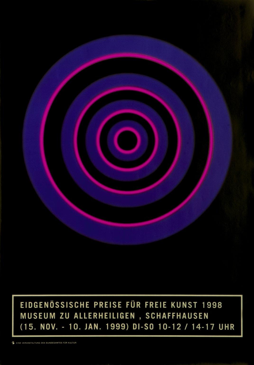 Eidgenössische Preise für freie Kunst 1998