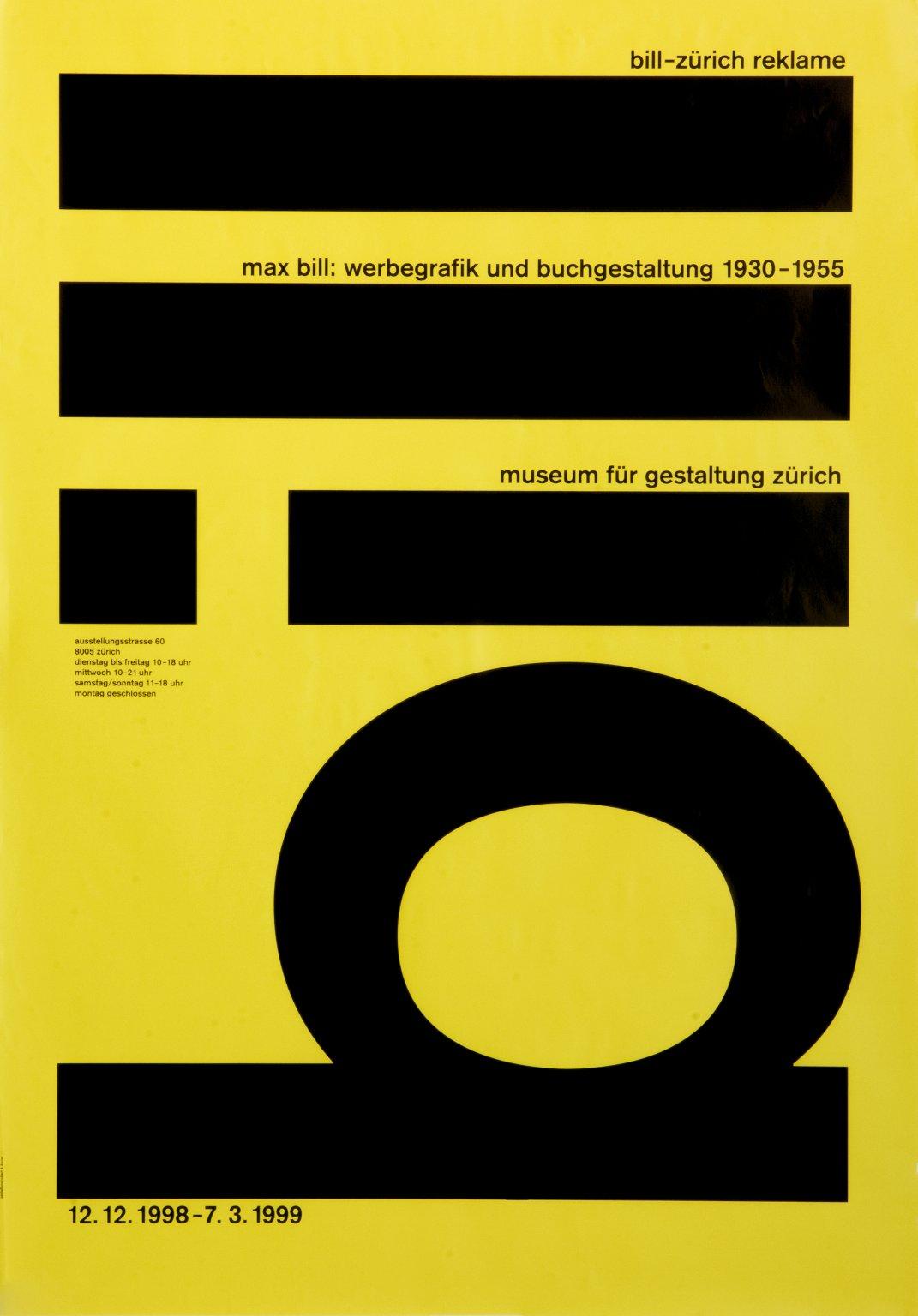 Max Bill: Werbegrafik und Buchgestaltung 1930-1955
